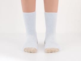 Kaymaz Tabanlı Havlu Kadın Çorabı - Açık Mavi