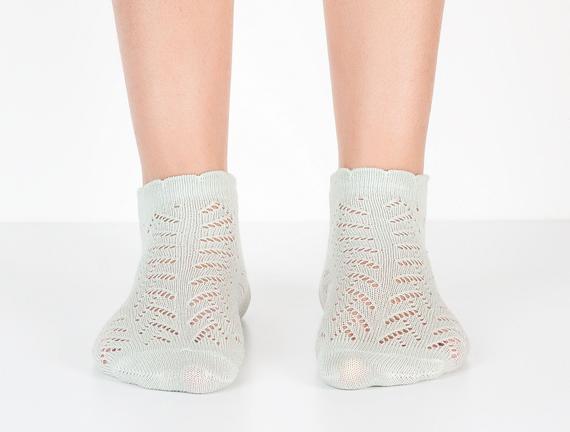 File Patik Kadın Çorabı - Mint Yeşili
