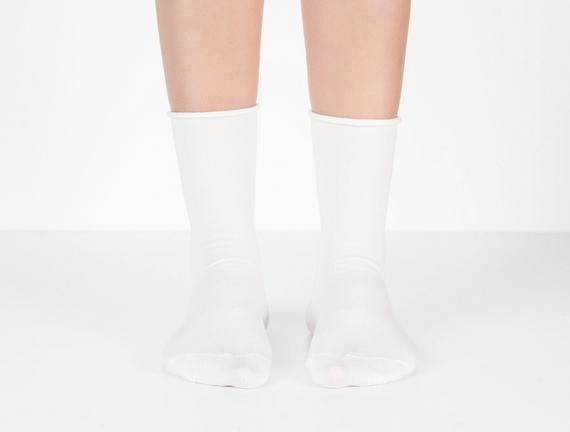 Lastiksiz Kadın Soket  Çorap - Ekru