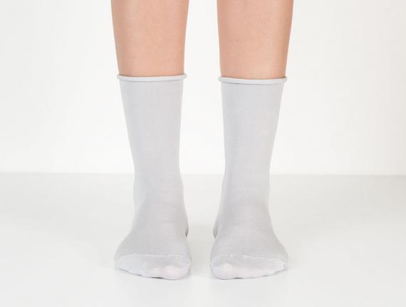 Lastiksiz Kadın Soket Çorap - Gri
