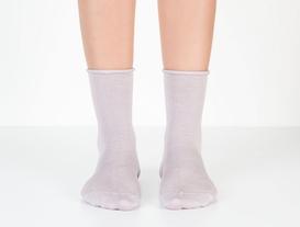 Lastiksiz Kadın Soket Çorap - Lila