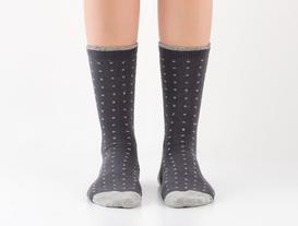 Simli Soket Kadın Çorabı - Antrasit