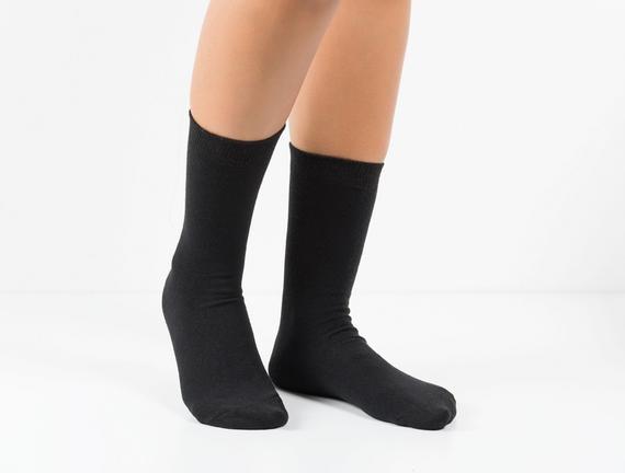 4'lü Kadın Soket Çorap - Düz Renk