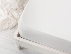 Feuilles / Ranforce Lastikli Tek Kişilik Çarşaf 100x200cm - Beyaz