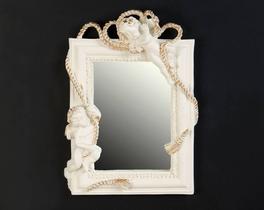 Dekoratif Ayna Melek Ekru