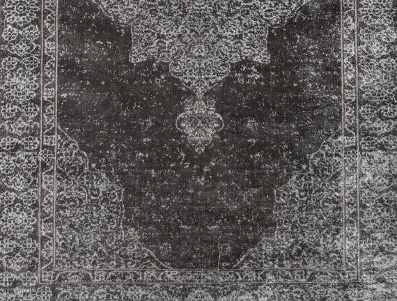 Kadife Halı Gri 80x140cm