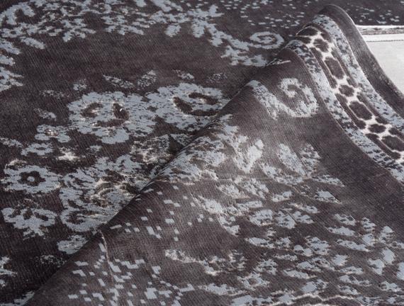 Kadife Halı Gri 160x230cm