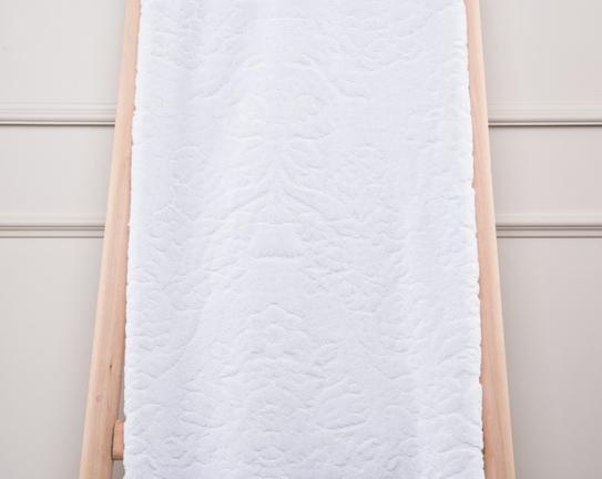 Favor Jakarlı Banyo Havlusu Beyaz 100x150cm