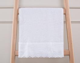 Desenli Havlu 30x46cm - Beyaz