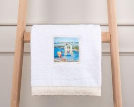 Dijital Baskılı Havlu 50x76cm - Beyaz