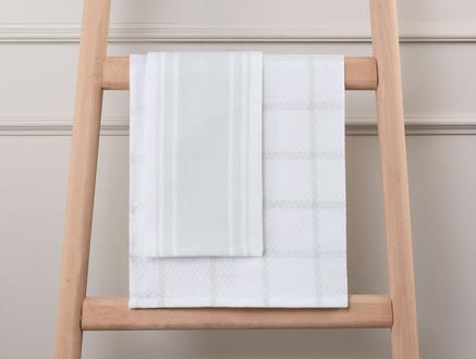2'li Dijital Baskılı Mutfak Havlusu - Mavi - 40x60 cm