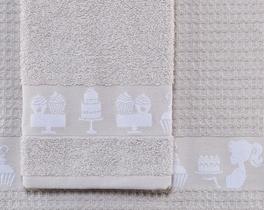 2li Dijital Baskılı Havlu Taş / Beyaz 40x60cm