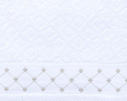 Nakışlı Havlu Beyaz 50x90cm
