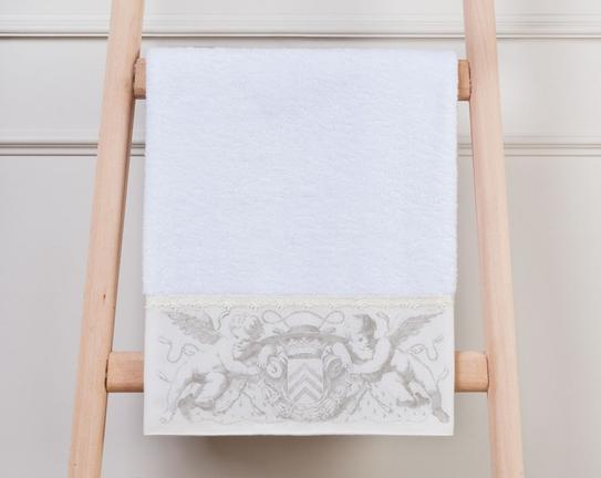 Melek Baskılı Havlu Beyaz 50x76cm