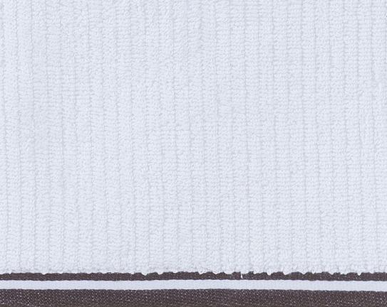 Banyo Havlusu - Beyaz / Antrasit - 30x30 cm