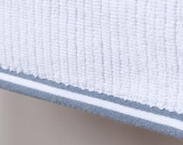 Kanallı Havlu Beyaz / Indigo 30x30cm
