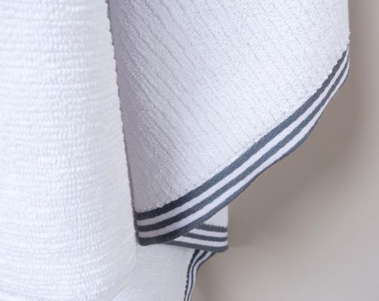 Banyo Havlusu - Beyaz / İndigo