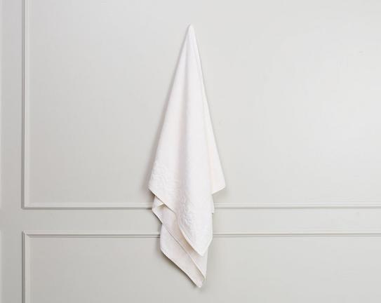 Jakar Baskılı Banyo Havlusu - Ekru