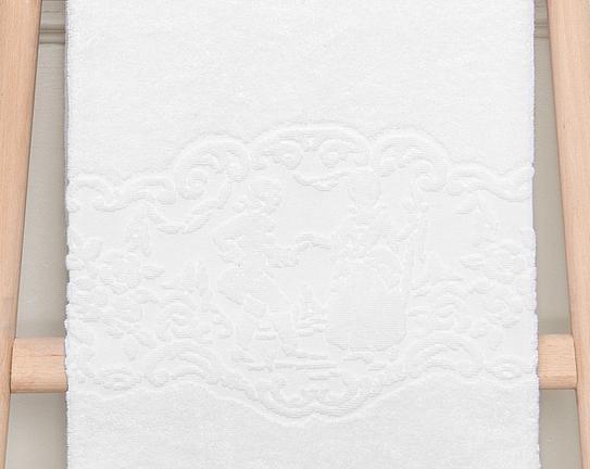Jakar Baskılı Banyo Havlusu - Beyaz