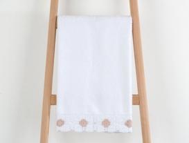 Elise Kroşeli Havlu 50x76cm - Beyaz