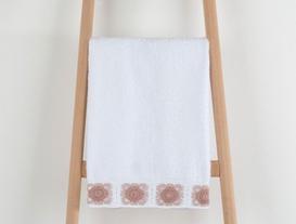 Fleur Kroşeli Havlu 50x76cm - Beyaz