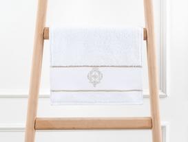 Nakışlı Havlu 30x46cm - Beyaz