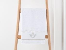 Nakışlı Havlu 50x76cm - Beyaz