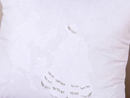 Kırlent Kılıfı Beyaz 35x50cm
