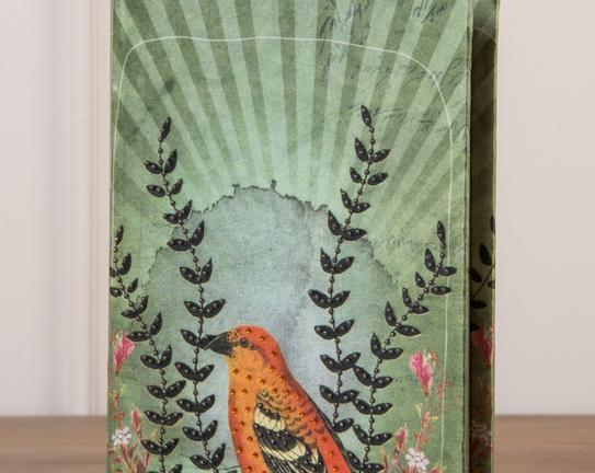 Kuş Figür Ahşap Kitap Kutusu
