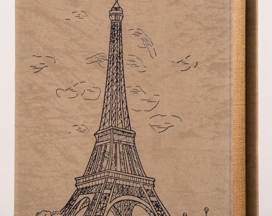 Eiffel Ahşap Kitap Kutusu