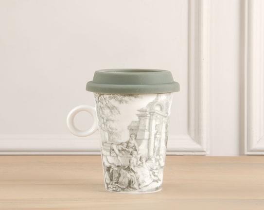 Silikon Kapaklı Porselen Kupa