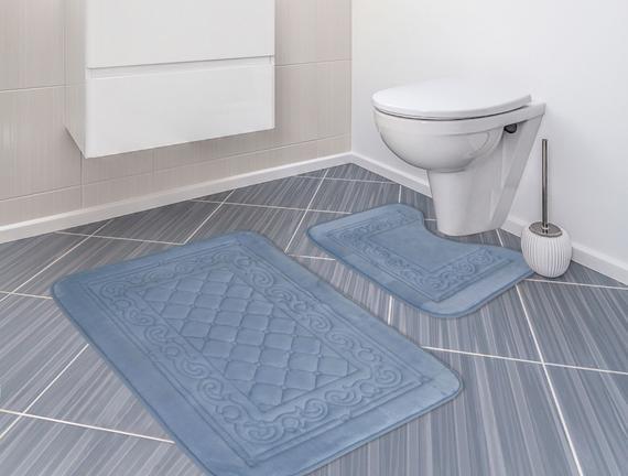 Banyo Paspas Takımı İndigo 60x100cm + 50x60cm