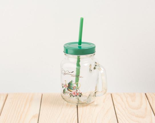 Pipetli Cam Kavanoz Green Teapot