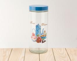 Cam Kavanoz Blue Teapot 11x27,5cm