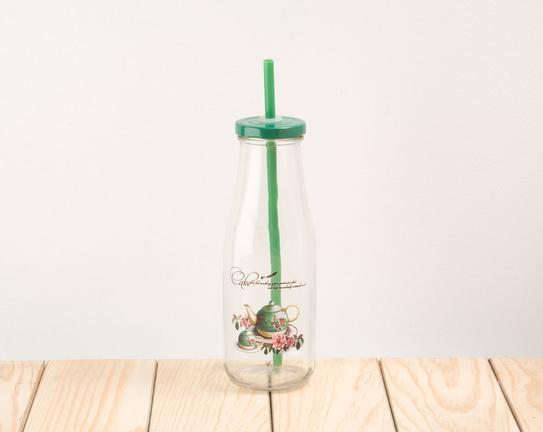 Pipetli Cam Şişe Green Teapot 6,5x19cm