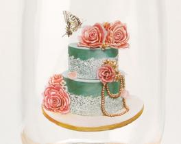 Cam Kavanoz 11x21cm - GREEN WEDDİNG CAKE