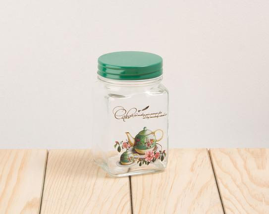 Cam Kavanoz Green Teapot 6x11cm