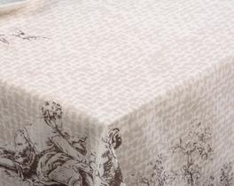 Kare Masa Örtüsü Kumaş Toprak 160x160cm