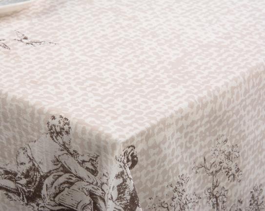 Dikdörtgen Masa Örtüsü Kumaş Toprak 160x240cm