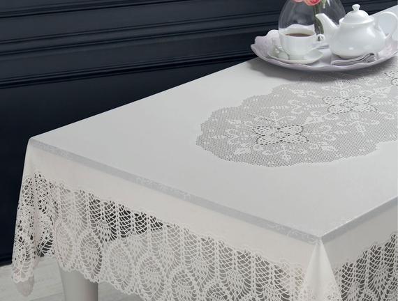 Vinil Dikdörtgen Masa Örtüsü - Taş