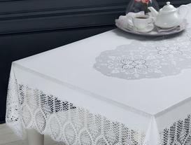 Vinil Dikdörtgen Masa Örtüsü - Beyaz