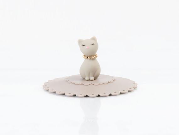 Kedili Silikon Bardak Kapağı