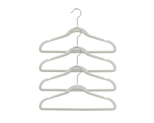 4'lü Kadife Elbise Askısı - Bej