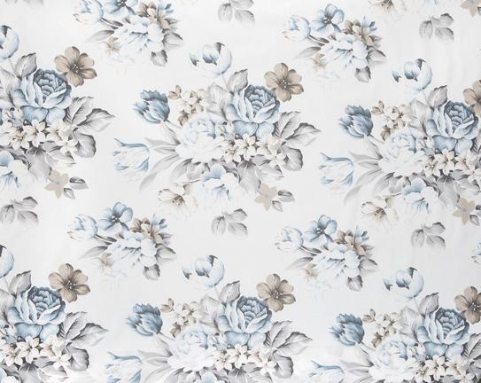 Bouquet Çift Kişilik Nevresim Takımı Mavi / Gri