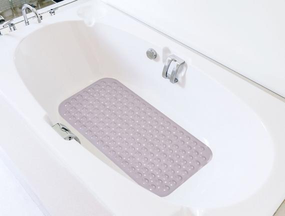 Vakumlu PVC Duş Kaydırmazı Mürdüm 38x70cm