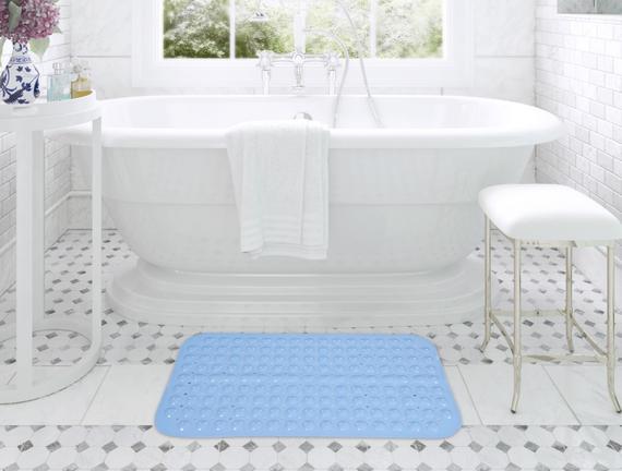 Vakumlu PVC Duş Kaydırmazı Mavi 38x70cm