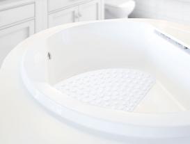 Vakumlu PVC Duş Kaydırmazı Beyaz 54x54cm