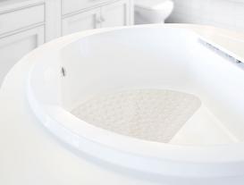 Vakumlu PVC Banyo Paspası 54x54cm - Toprak
