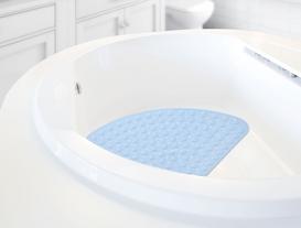 Vakumlu PVC Duş Kaydırmazı 54x54cm - Mavi