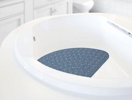 Vakumlu PVC Duş Kaydırmazı 54x54cm - Indigo